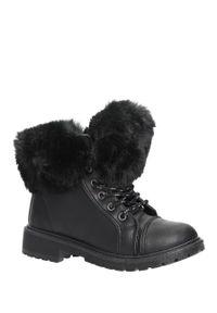 Czarne buty zimowe Casu #1