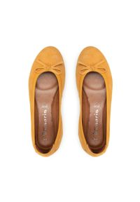 Tamaris - Baleriny TAMARIS - 1-22100-26 Mango 609. Kolor: pomarańczowy. Materiał: skóra, zamsz