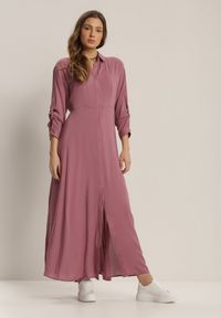 Fioletowa długa sukienka Renee