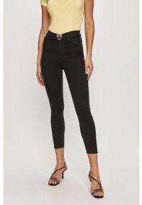 Czarne jeansy Pinko gładkie, klasyczne