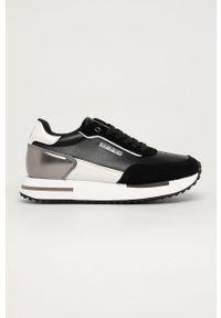 Czarne buty sportowe Napapijri z cholewką, na sznurówki