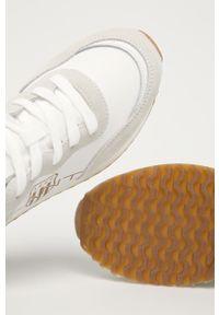 Białe sneakersy GANT z cholewką, z okrągłym noskiem, na obcasie, na sznurówki