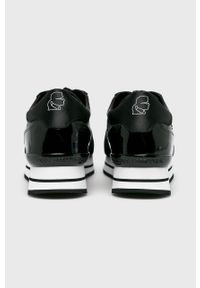 Czarne buty sportowe Karl Lagerfeld na sznurówki, z cholewką