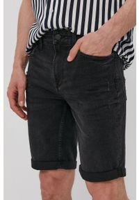 Only & Sons - Szorty jeansowe. Kolor: szary. Materiał: jeans