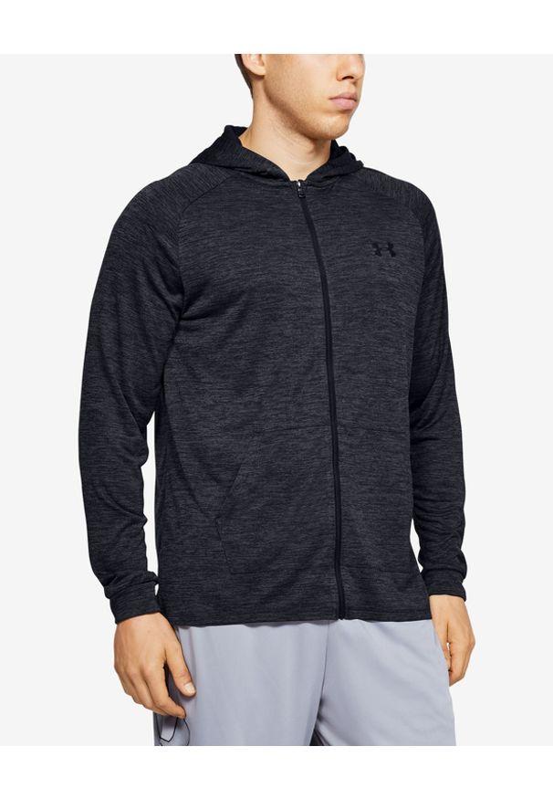 Czarna bluza Under Armour w kolorowe wzory, długa