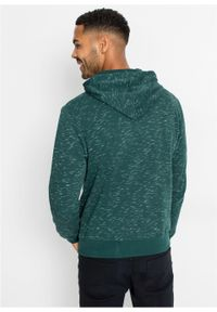 Zielona bluza bonprix z kapturem, melanż