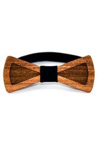 Bow Bow Ties - Oryginalna mucha drewniana. Materiał: bawełna, guma. Wzór: aplikacja