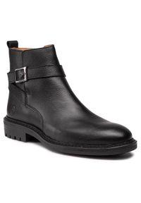 Czarne buty zimowe Trussardi Jeans