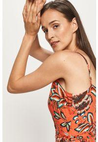 Pomarańczowa sukienka ANSWEAR maxi, na ramiączkach, na co dzień