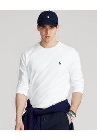 Ralph Lauren - RALPH LAUREN - Biała koszulka z długim rękawem Classic Fit. Typ kołnierza: polo. Kolor: biały. Materiał: bawełna. Długość rękawa: długi rękaw. Długość: długie. Wzór: haft