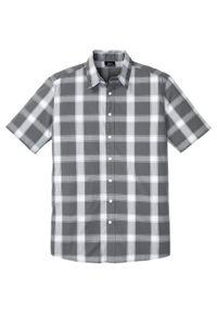 Szara koszula bonprix krótka, z krótkim rękawem