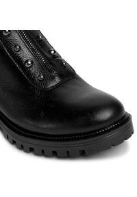 Czarne buty trekkingowe Baldaccini z cholewką, w grochy
