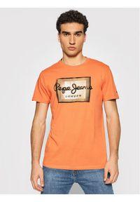 Pepe Jeans T-Shirt Wesley PM507876 Pomarańczowy Regular Fit. Kolor: pomarańczowy