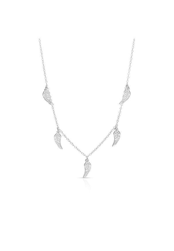 W.KRUK Wyjątkowy Naszyjnik - srebro 925 - SMN/NS172. Materiał: srebrne. Wzór: ze splotem, ażurowy