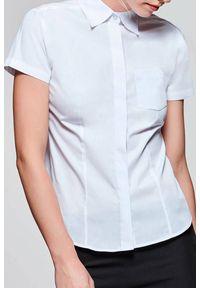 Biała bluzka IVET krótka, z krótkim rękawem