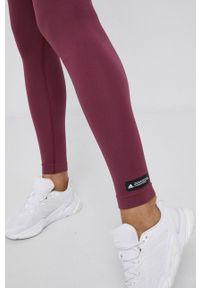 adidas Performance - Adidas Performance - Legginsy. Kolor: fioletowy. Materiał: dzianina. Sport: fitness