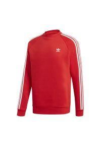 Czerwona bluza Adidas z długim rękawem, klasyczna, w kolorowe wzory