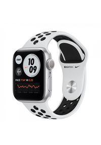 APPLE - Smartwatch Apple Watch Nike 6 GPS 40mm aluminium, srebrny | platyna/czarny pasek sportowy. Rodzaj zegarka: smartwatch. Kolor: srebrny, wielokolorowy, czarny. Styl: sportowy