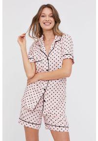 Różowa piżama Answear Lab krótka
