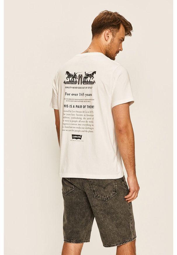 Biały t-shirt Levi's® z okrągłym kołnierzem, biznesowy