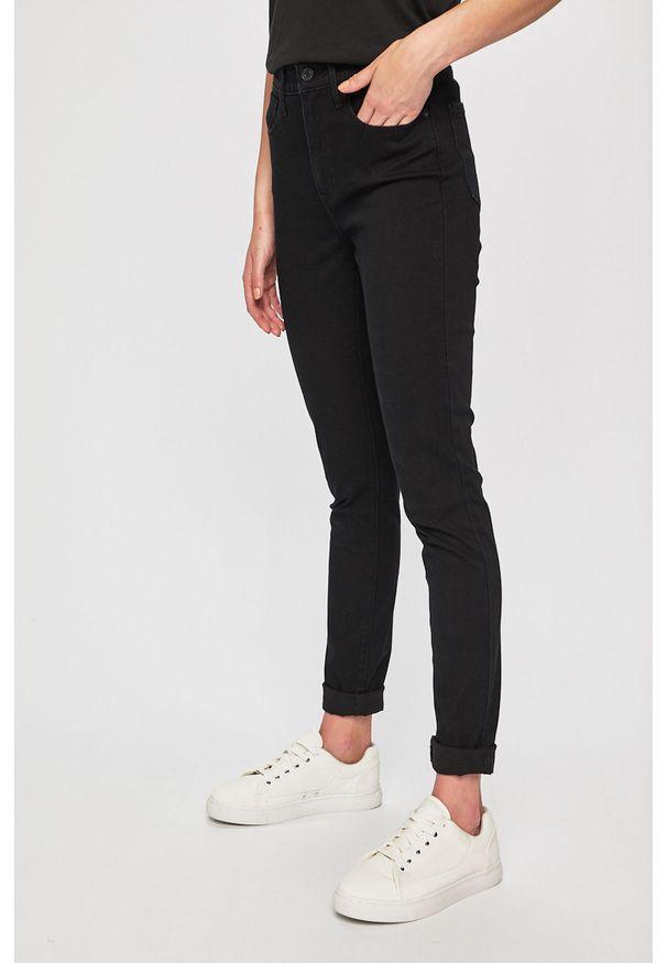 Levi's® - Levi's - Jeansy 721. Okazja: na spotkanie biznesowe. Kolor: czarny. Materiał: jeans. Wzór: gładki. Styl: biznesowy