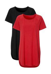 Cellbes Dżersejowa tunika z bawełny 2 Pack czerwony Czarny female czerwony/czarny 54/56. Kolor: wielokolorowy, czarny, czerwony. Materiał: jersey, bawełna. Długość rękawa: raglanowy rękaw. Długość: krótkie