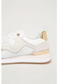Białe buty sportowe TOMMY HILFIGER na sznurówki, z cholewką
