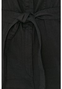 G-Star RAW - G-Star Raw - Kombinezon. Okazja: na co dzień. Kolor: czarny. Materiał: tkanina. Długość rękawa: krótki rękaw. Długość: krótkie. Wzór: gładki. Styl: casual