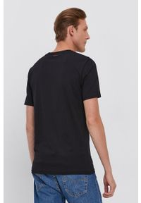 BOSS - Boss - T-shirt bawełniany Boss Casual. Okazja: na co dzień. Kolor: czarny. Materiał: bawełna. Wzór: nadruk. Styl: casual