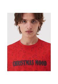 Czerwony t-shirt Sinsay wizytowy