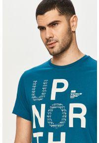 Niebieski t-shirt s.Oliver z nadrukiem, na co dzień