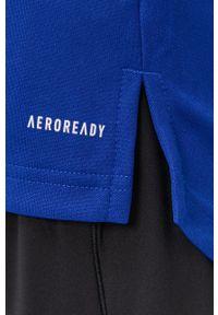 adidas Performance - Bluza. Okazja: na co dzień. Kolor: niebieski. Materiał: tkanina. Długość rękawa: raglanowy rękaw. Wzór: gładki. Styl: casual