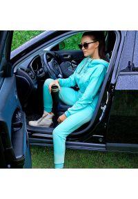 FJ! - Spodnie joggery - SENSATION MINT. Materiał: bawełna, dresówka, dzianina, elastan. Wzór: aplikacja. Sport: fitness
