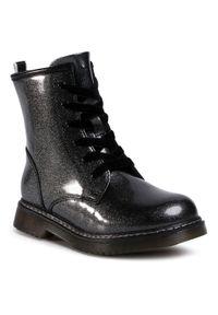 Szare buty zimowe Nelli Blu na spacer, z cholewką