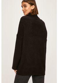 Czarny sweter TALLY WEIJL na co dzień, z golfem, casualowy