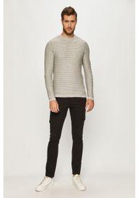 Szary sweter PRODUKT by Jack & Jones casualowy, długi, z okrągłym kołnierzem, z długim rękawem #5