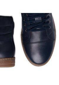 Niebieskie sneakersy QUAZI z cholewką