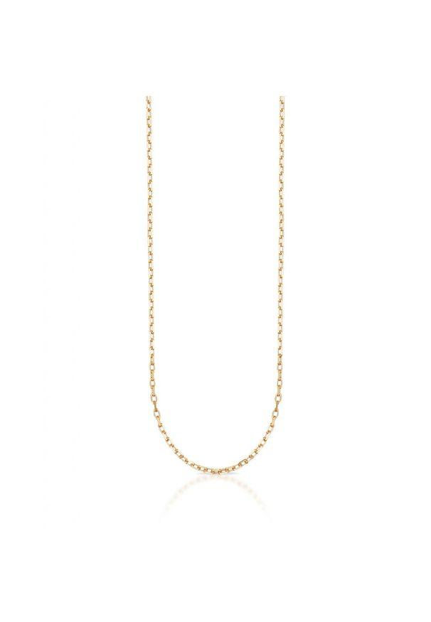 W.KRUK Piękny Złoty Łańcuszek - złoto 333 - ZVI/LR307. Materiał: złote. Kolor: złoty. Materiał: ze splotem. Wzór: ze splotem, aplikacja