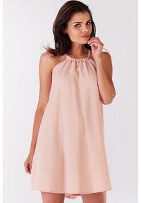 Sukienka Infinite You oversize, z dekoltem halter, na lato