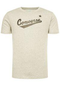 Converse T-Shirt Center Front Logo 10018235-A04 Szary Regular Fit. Kolor: szary