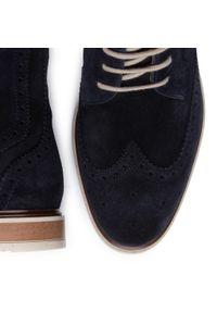 Niebieskie buty zimowe Gino Rossi z cholewką