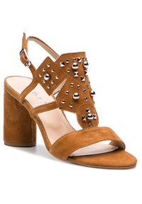 Brązowe sandały Ann Mex casualowe, na co dzień