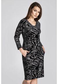 Czarna sukienka Vito Vergelis casualowa, na co dzień