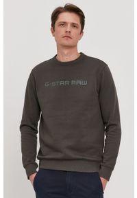 G-Star RAW - G-Star Raw - Bluza. Okazja: na co dzień. Kolor: zielony. Wzór: aplikacja. Styl: casual