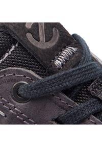Czarne sneakersy ecco z cholewką