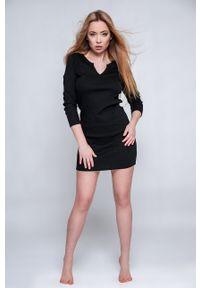 Sensis - Koszula nocna She. Kolor: czarny. Długość: długie
