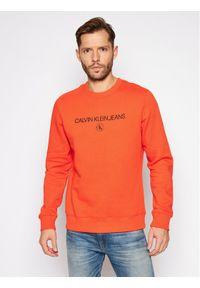 Calvin Klein Jeans Bluza Archive Logo J30J316683 Pomarańczowy Regular Fit. Kolor: pomarańczowy