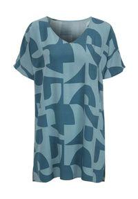 Niebieska tunika Cellbes elegancka, z krótkim rękawem
