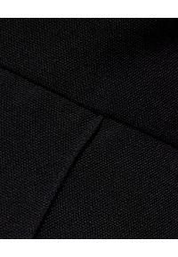 ALEXANDRE VAUTHIER - Czarne spodnie z wysokim stanem. Stan: podwyższony. Kolor: czarny. Materiał: materiał. Styl: klasyczny