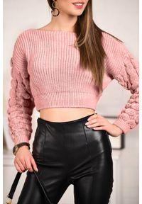 Różowy sweter IVET na zimę